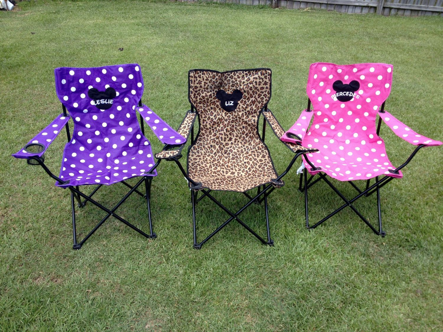 folding chair embroidered nathan anthony chairs monogrammed solid colors portable