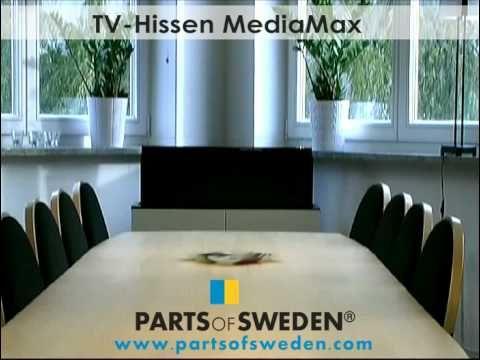 ikea popup tv lift cabinet mediamax youtube