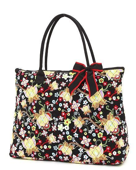 Quilted Floral Large Tote Bag | Large tote, Tote bag and Products : quilted floral tote bags - Adamdwight.com