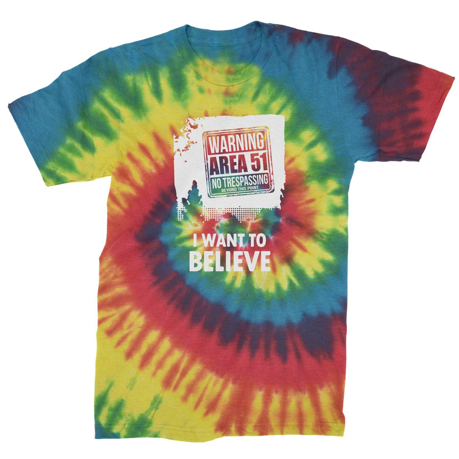 Storm Area 51 - I Want To Believe Mens Tye-Dye T-shirt #area51partyoutfit