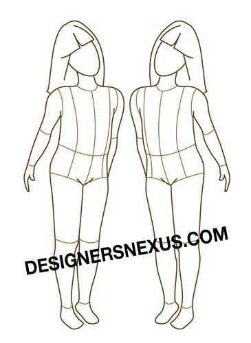 Children Fashion Figure - Free download - possibly to use for - fashion designer templates