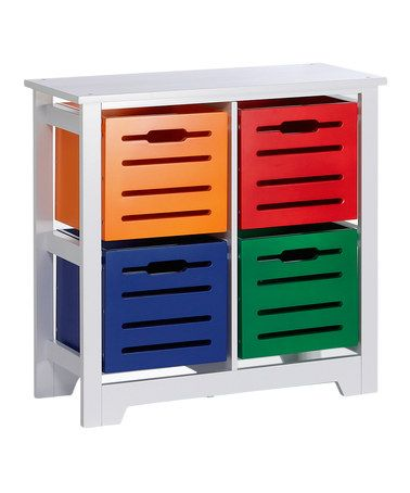 Another great find on #zulily! Four-Bin Storage Cabinet #zulilyfinds