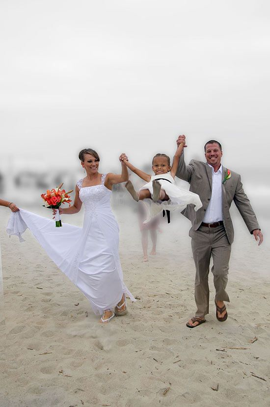 If There Is A Kid Use Him Or Her Beach Wedding With Kids Photo