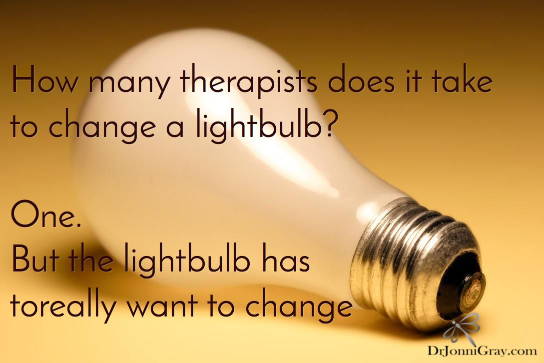 How many therapists does it take to change a lightbulb