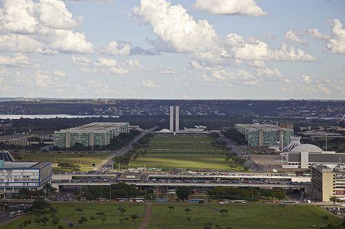 Esplanada dos Ministérios, Brasília, Brazil.