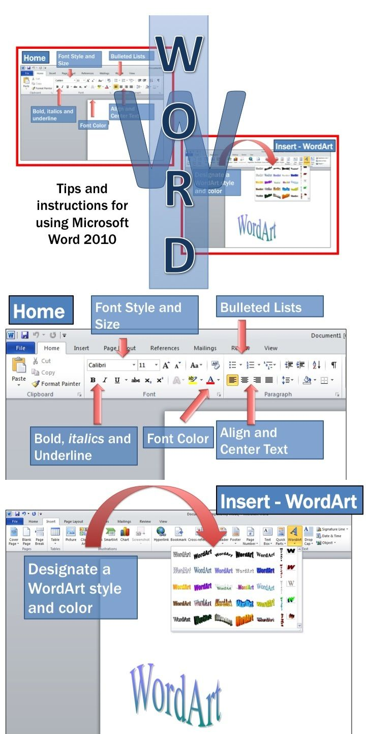 Microsoft Word 2010 Lesson Activities | Education-technology ...