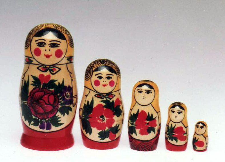 Matrioska Semenov 5 pezzi