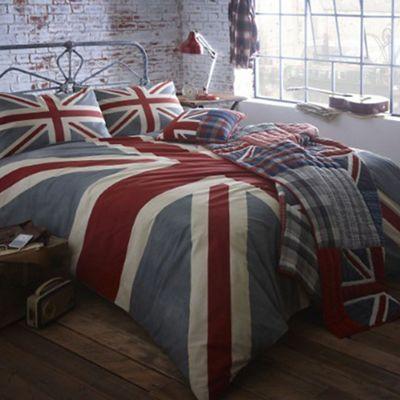 Home Collection Blue Vintage Union Jack Bedding Set Debenhams