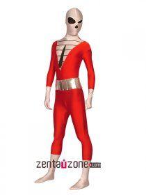 Deadpool Costume Lycra Spandex Zipper Full Body Zentaisuit Halloween Costume