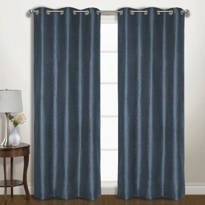 United Curtain Vintage Faux Silk Wide Width Blackout Panel Pairs