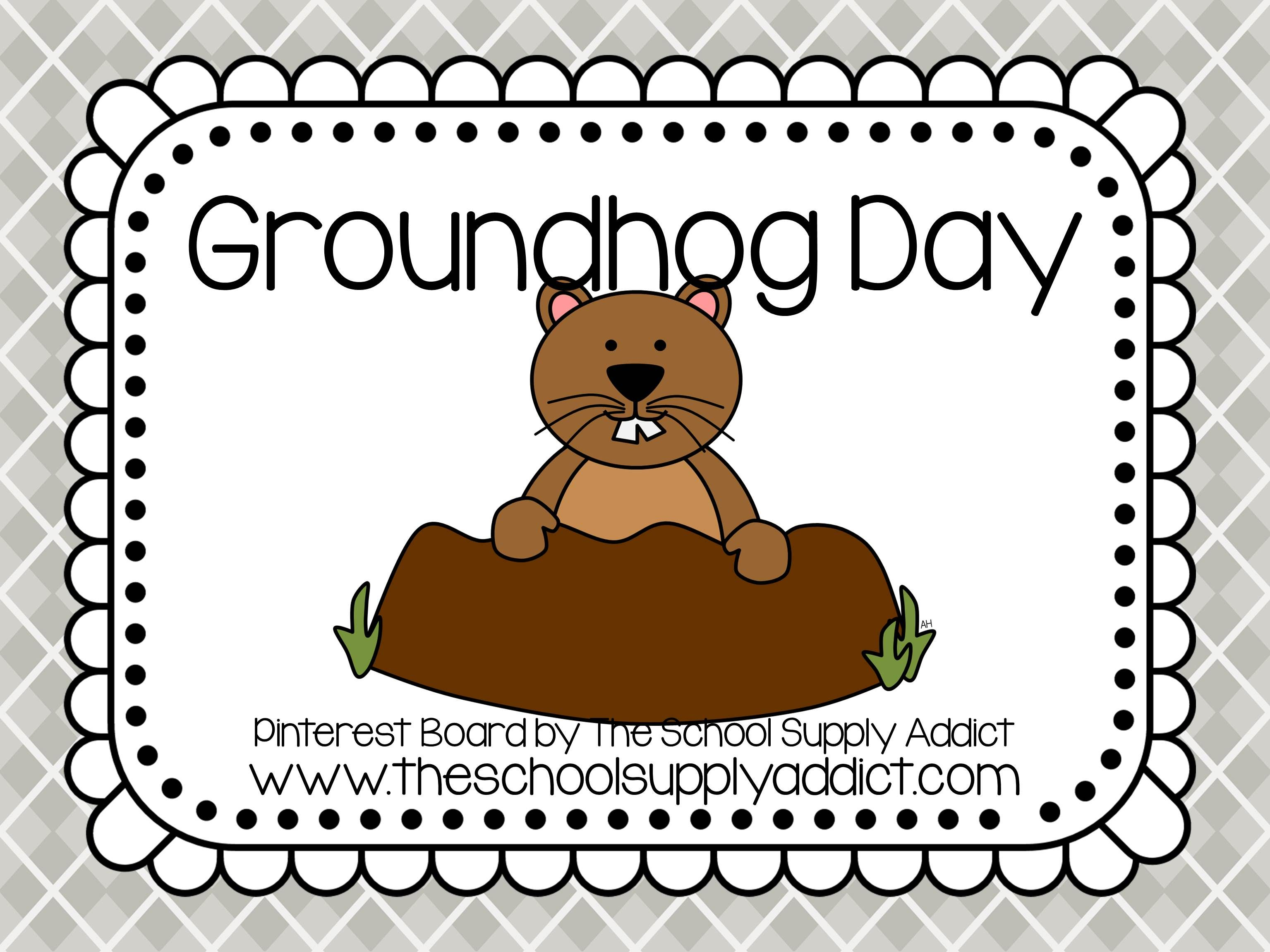 Groundhog Day Pin Board By The School Supply Addict