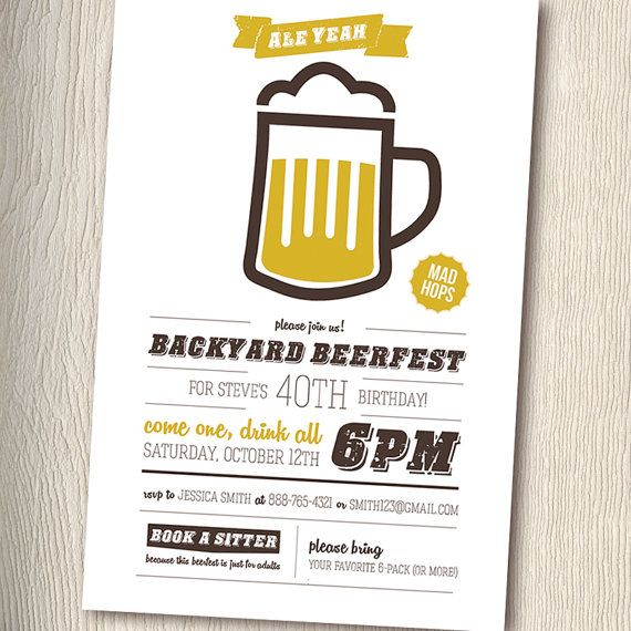 BEERFEST Beer Party Invitation for adult birthday by PaintByInvite - fresh birthday party invitation in japanese