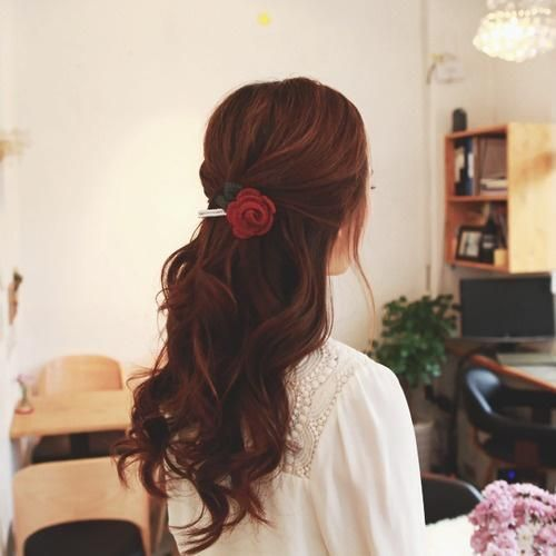 hair color idea, reddish dark brown