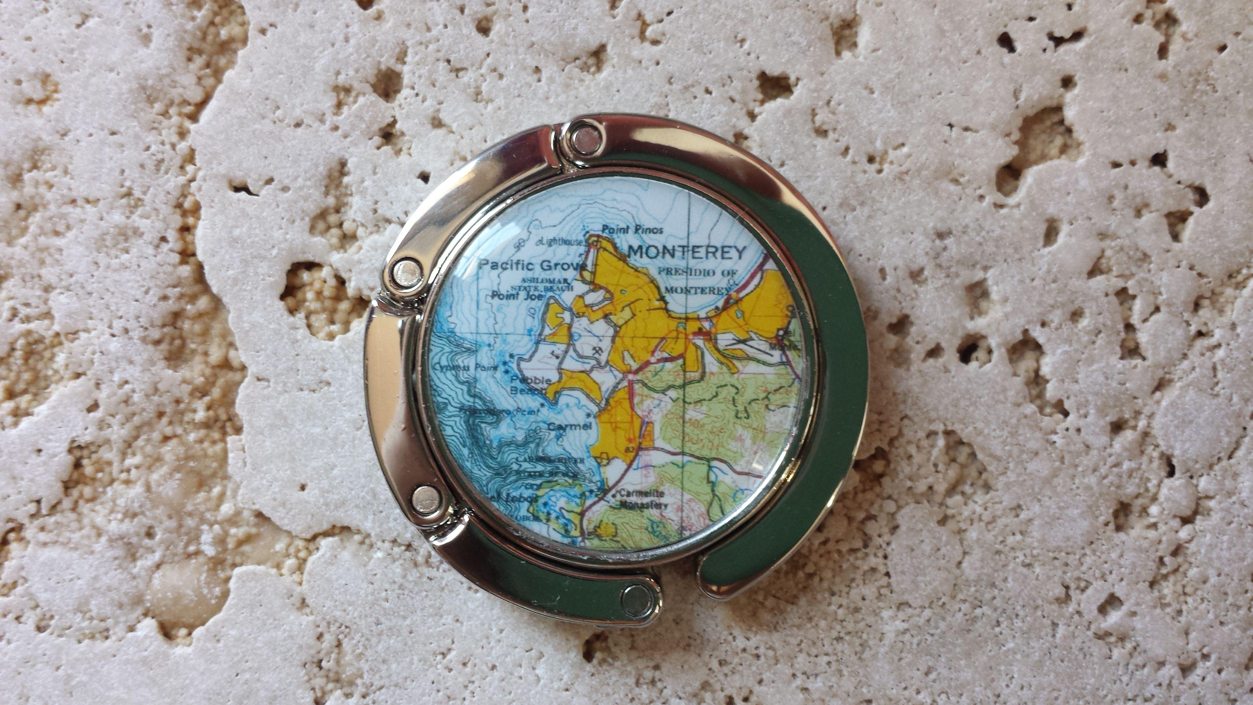 Chicago Map Grid%0A Monterey  California map purse hanger