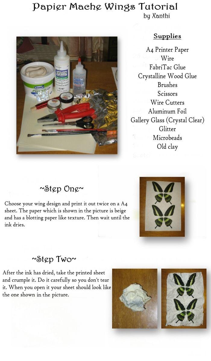 OOAKGuild.com ~ The OG ~ One of A Kind Art Dolls & Sculptures › OG Library › Paper Mache Wings Tutorial