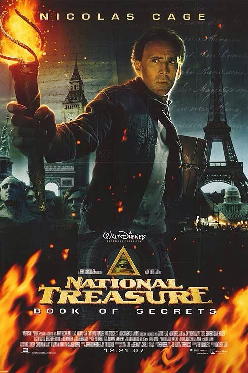 Poster from the film National Treasue: Book Of Secrets