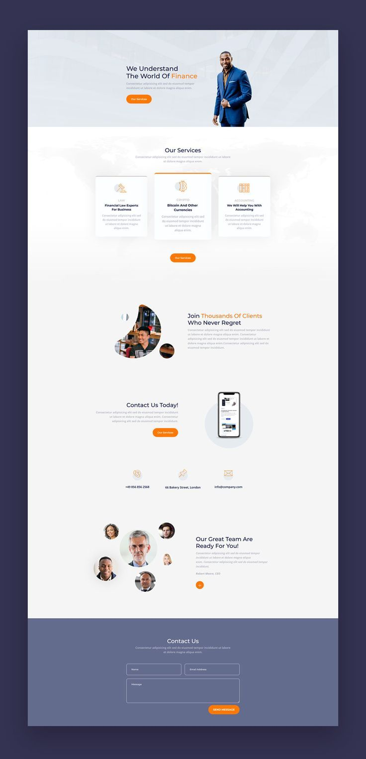 The Finance is a free Divi layout built for corporate