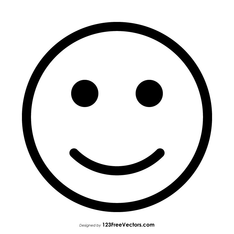 Slightly Happy Face Emoji Outline With Images Emoji Tattoo