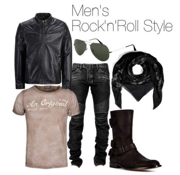 Men rock outfit Men's Button