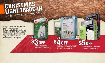 recycle your old christmas lights w home depot through 11142012