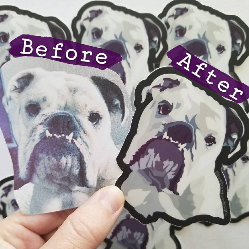 Custom Pet Portrait Decals