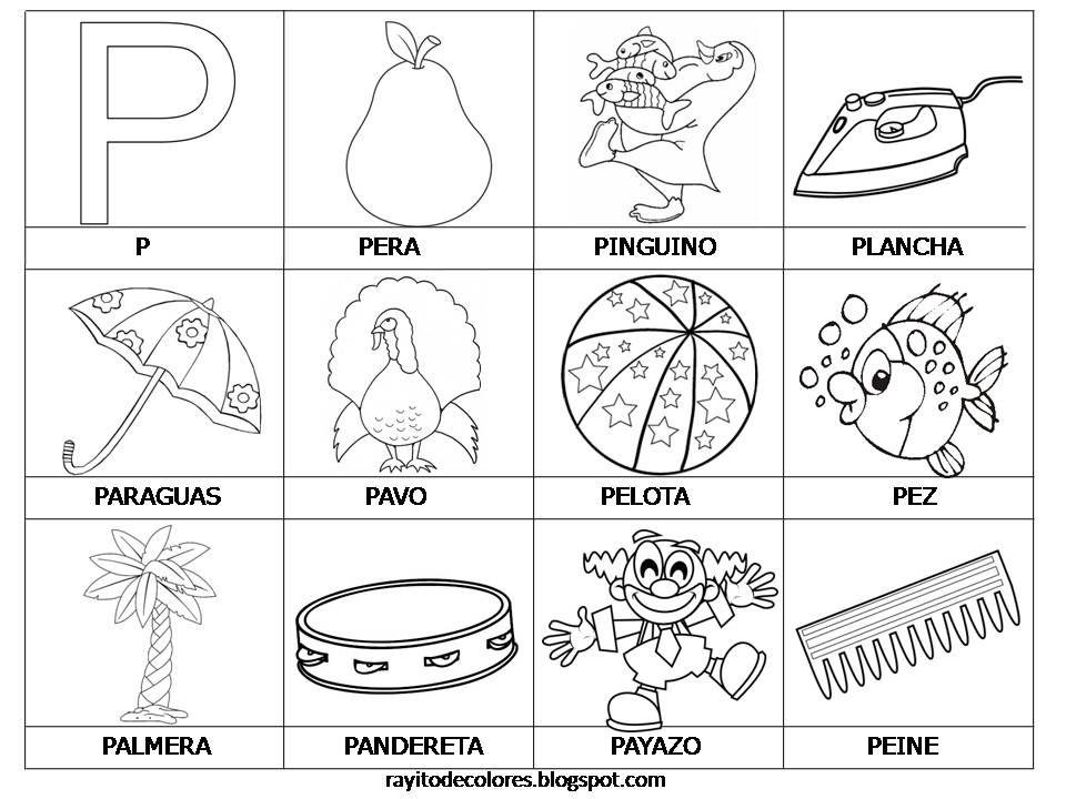 Tarjetas De Lectura Del Abecedario En 2020 Palabras Con P La Letra P Actividades De Letras
