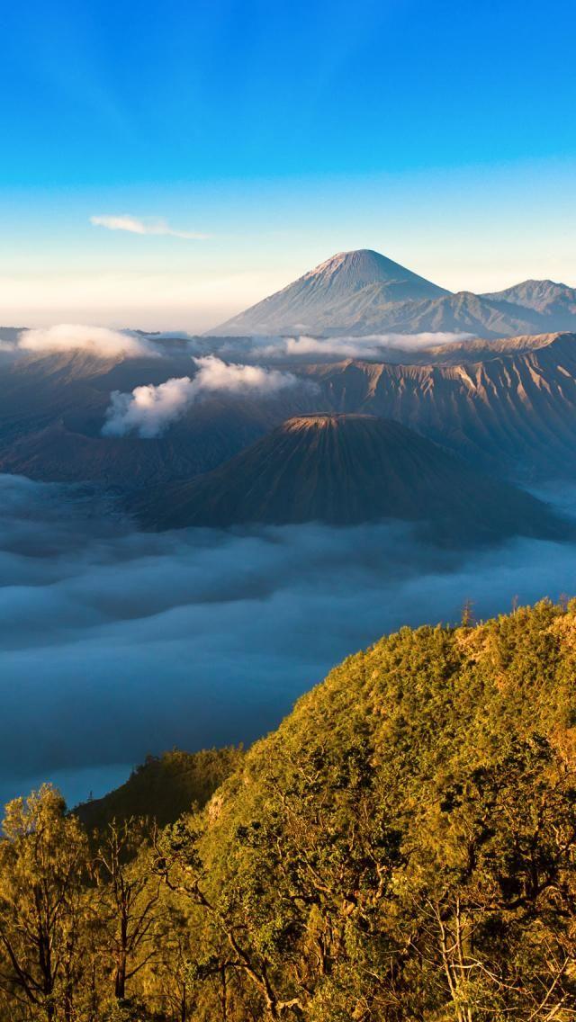 Bromo Tengger Semeru National Park East Java Indonesia Pemandangan Taman Nasional Pemandangan Anime