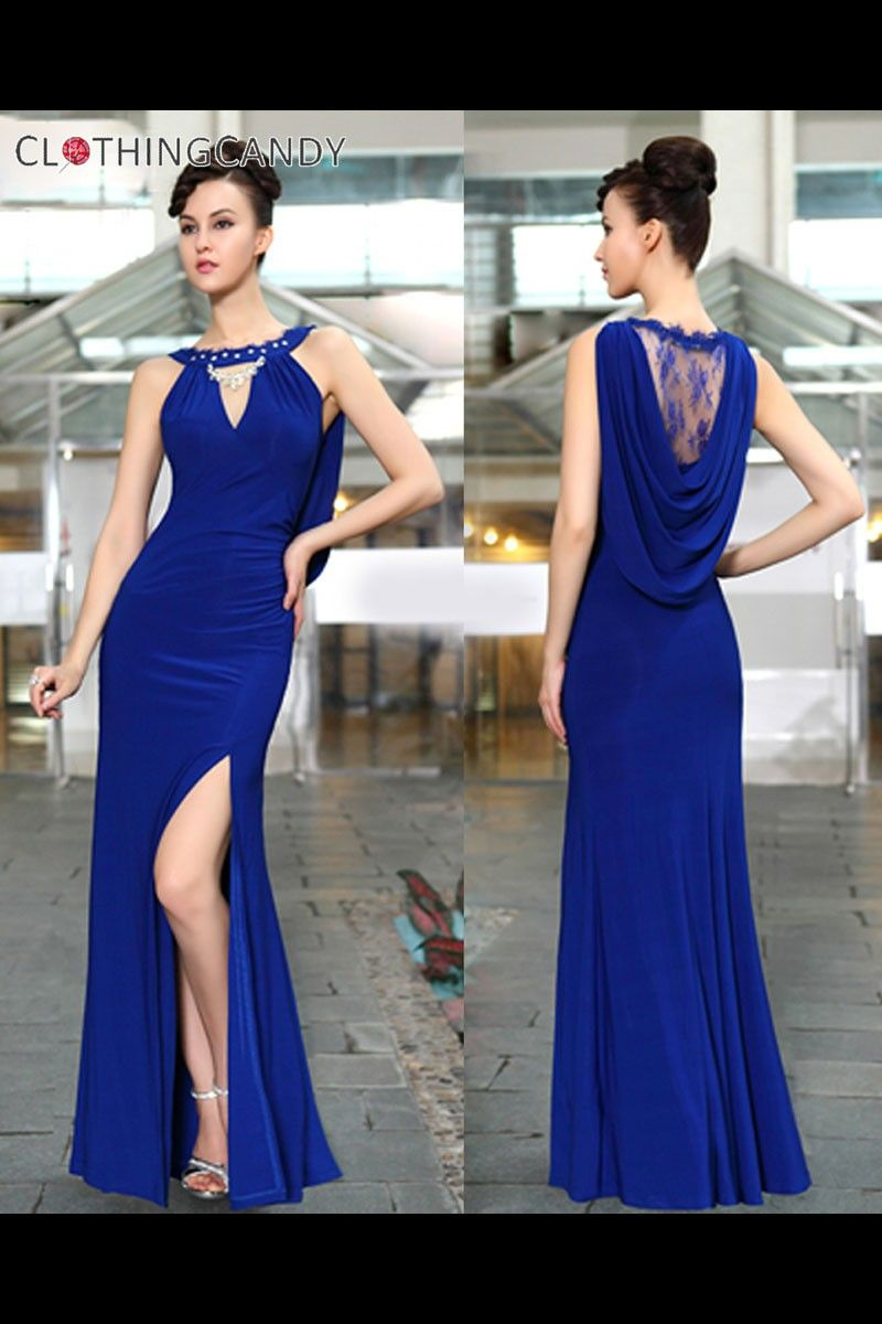 Slitted sexy long evening gown shop prom dress size xs to xxxl at