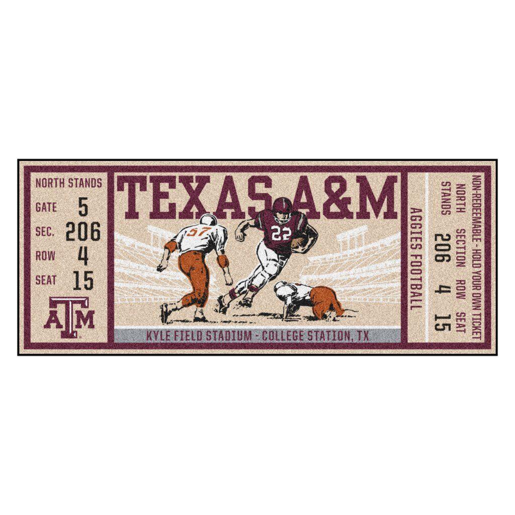 """Texas A&M Ticket Runner 30""""x72"""" Game tickets, Texas a&m"""