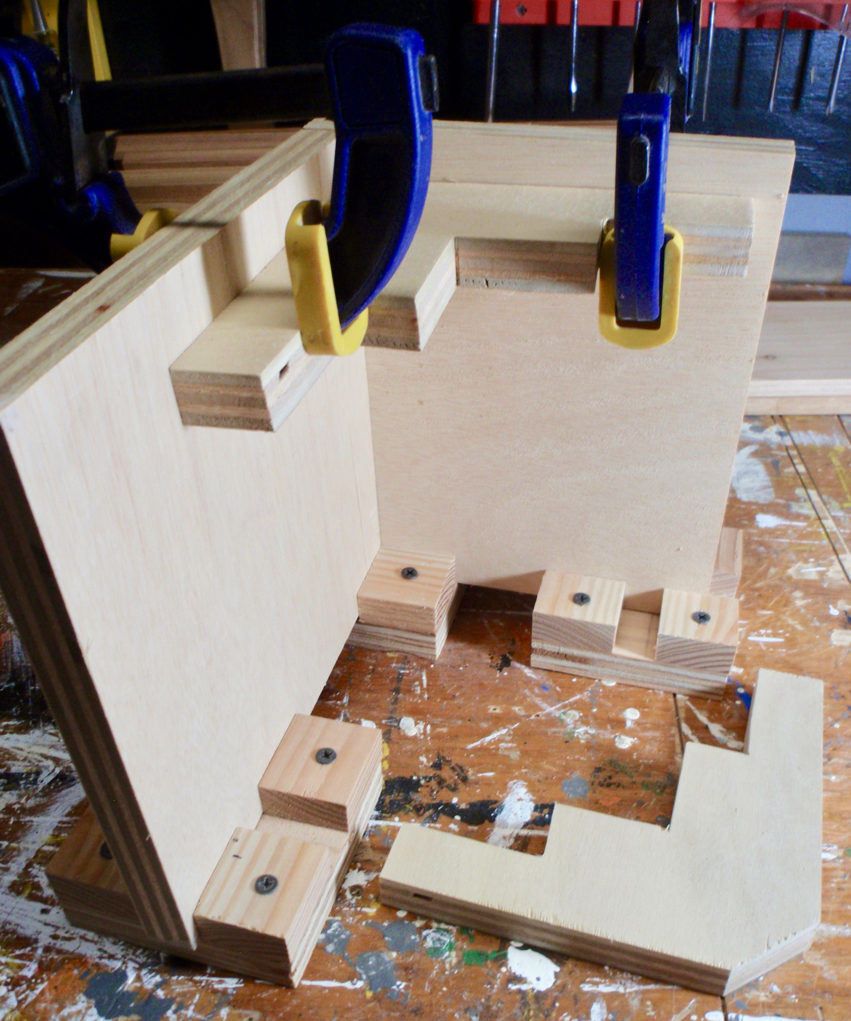 Right Angle Clamping Jig Shop Made From 3 4 Plywood For Creating