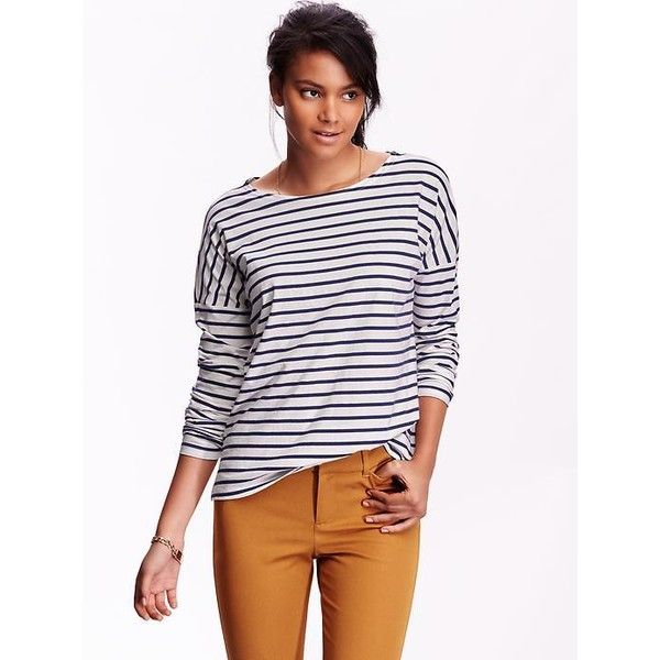 Ladies Ribbed Boat Neck Knit Top - Peacoat Blue   Knit top