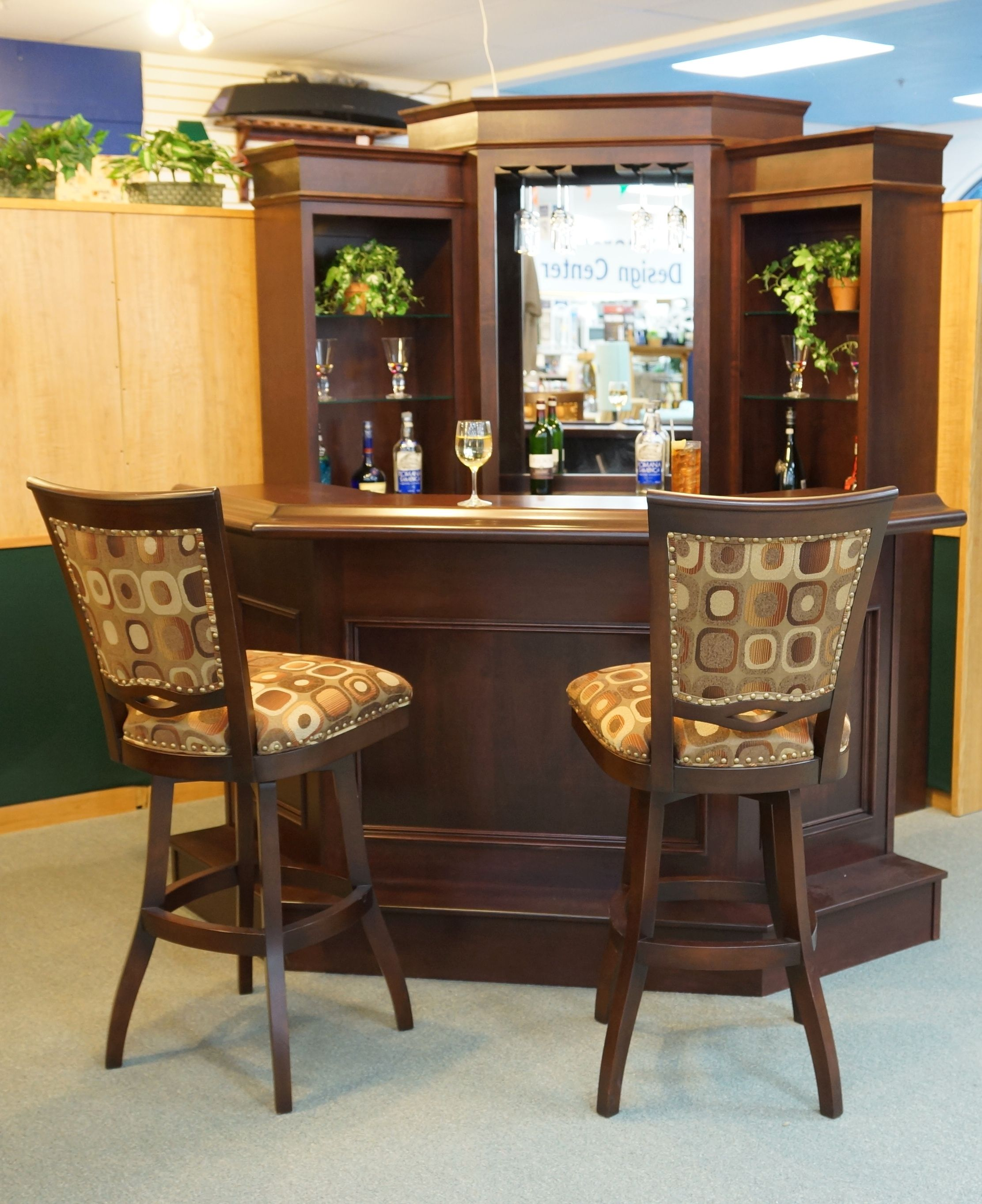 Corner bar by primocraft with barstools by tobias designs Breakfast nook bar ideas