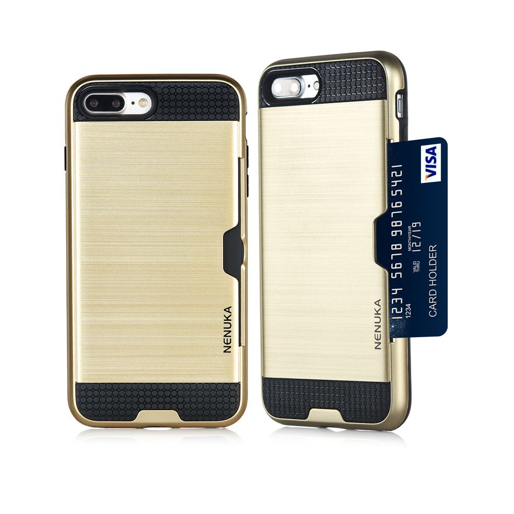 Card Slot Slim Hybrid Hard Cover Shock Absorbent Case for Apple iPhone 5 5S SE 6 6S Plus 7 7Plus