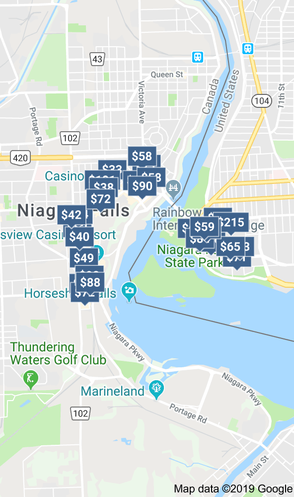 Niagara Falls Hotels Map Canada Map of hotels niagara falls canada | Niagara falls canada, Niagara