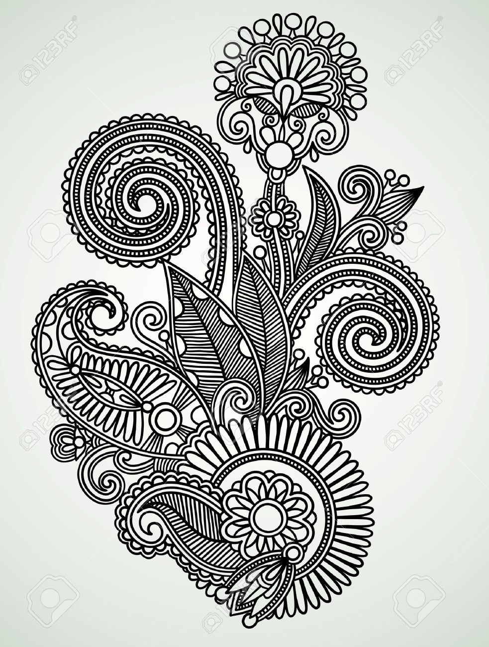 Henna Design Line Art : Indian motif drawings google search motifs pinterest