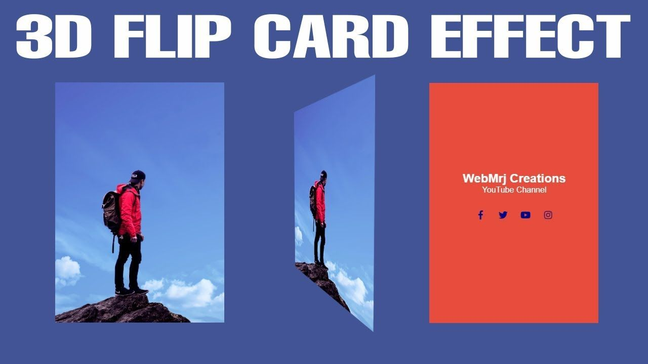 3D Flip Card Effect On Hover Using Only HTML CSS | Flip Card Design