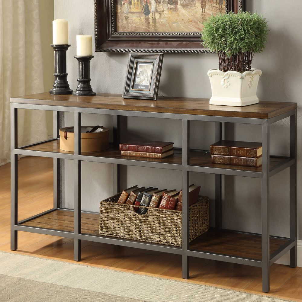 Furniture Of America Payton Industrial Tiered Sofa Table   Overstock™  Shopping   Great Deals On