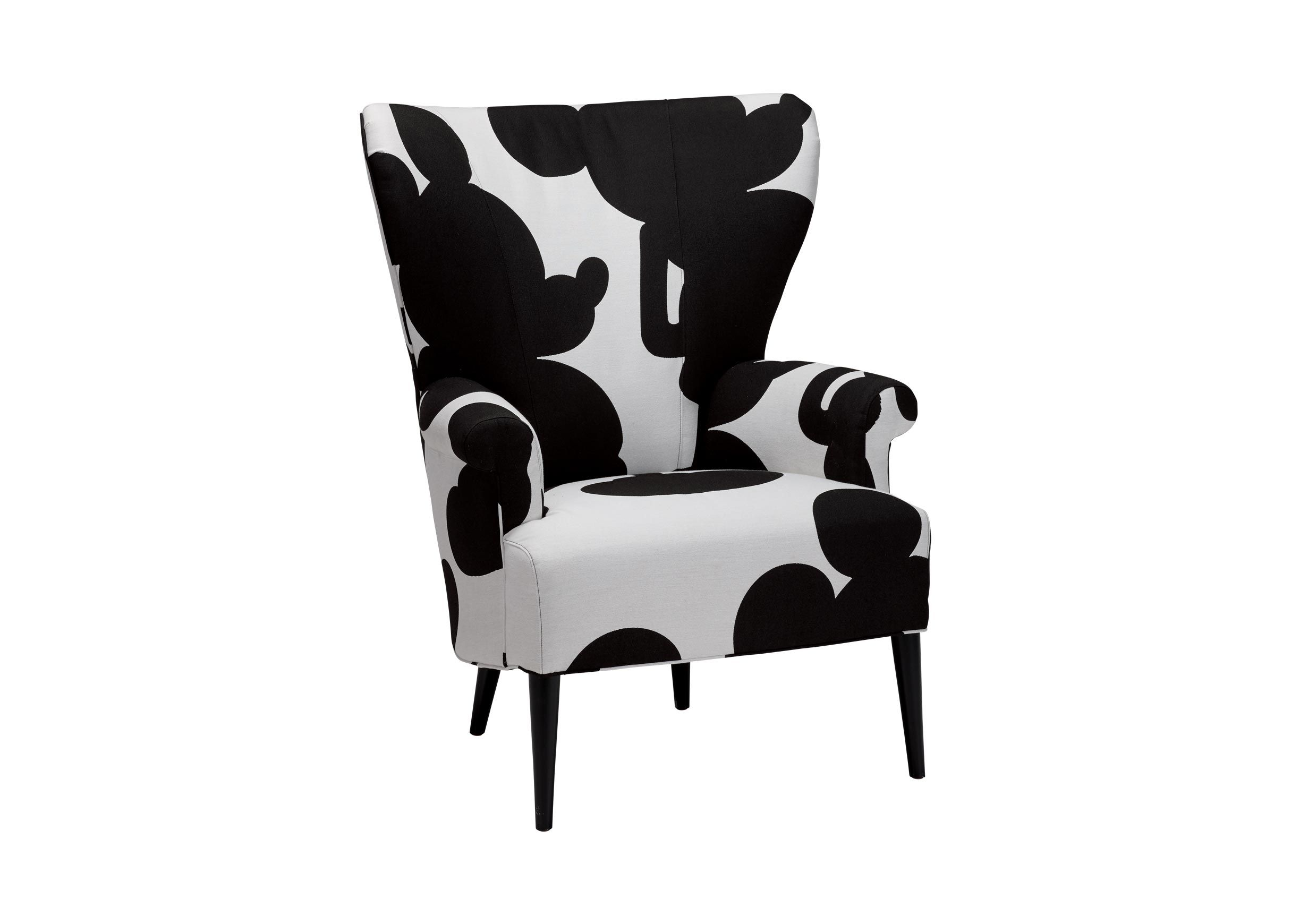 Bravo Chair, Quick Ship , Mr. Mouse Mickey Ears Black (D2955), Woven Mickey  Cowhide , Large_gray