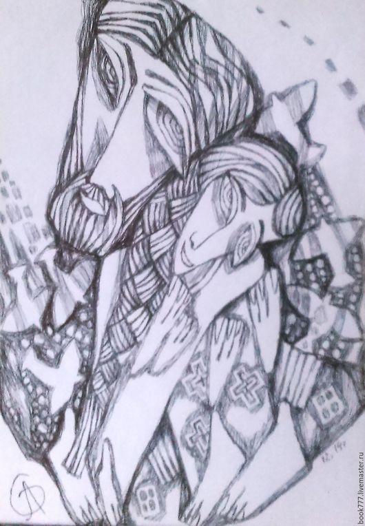 Символизм ручной работы. Ярмарка Мастеров - ручная работа. Купить С небес пролившийся поток. Handmade. Темно-серый, бумага