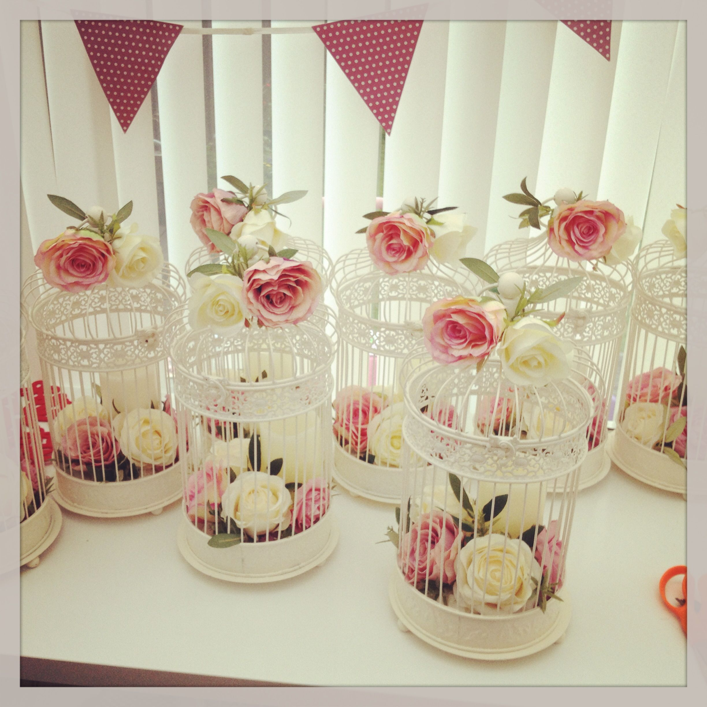 Lots of lovely vintage birdcage #centrepieces by Elegant Wedding ...