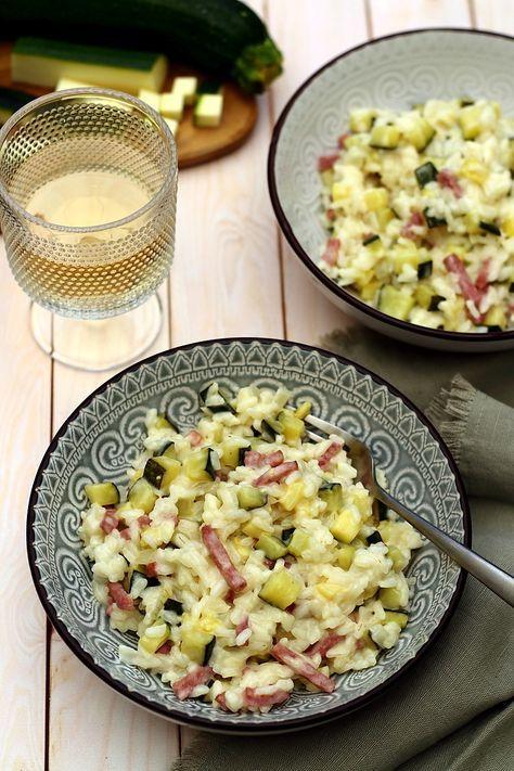 Risotto crémeux aux courgettes et bacon (avec images ...