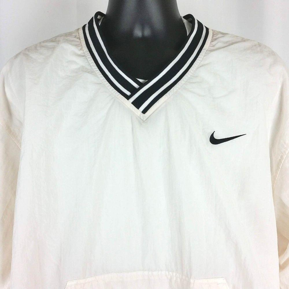 Nike Mens Windbreaker Jacket Vintage 90s Pullover Vneck