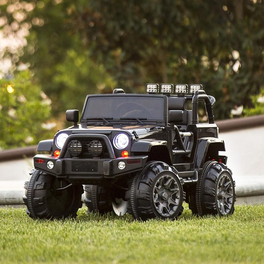 12v Kids Ride On Truck Car Toy W 3 Speeds Led Lights Remote Control Aux Kids Ride On Trucks Ride On Toys