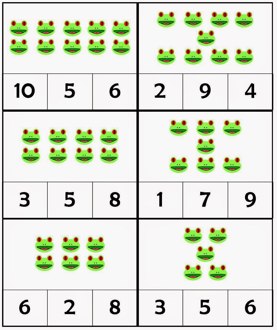 Red Eyed Tree Frog Count Amp Clip Cards