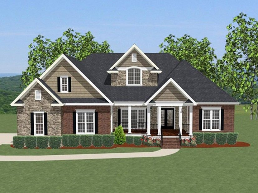 New American Home Plan With 2948 Square Feet And 4 Bedrooms From Dream Home  Source |