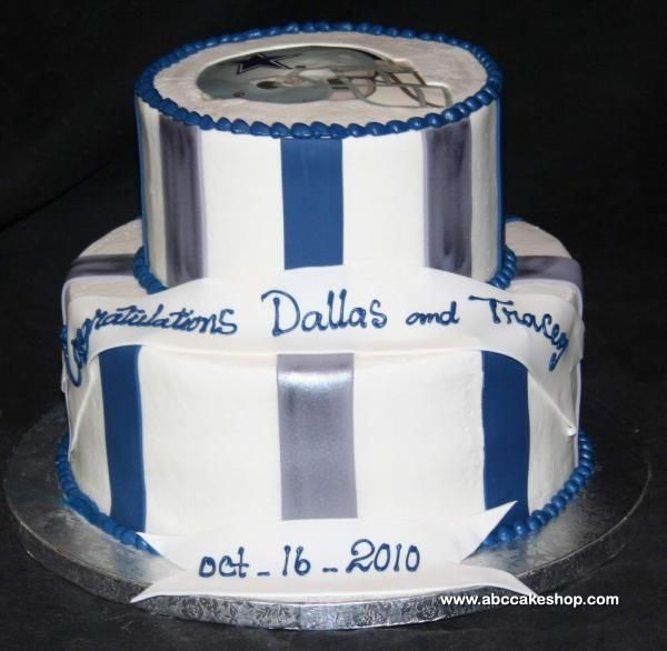 Beautiful Dallas Cowboys Baby Shower Cake. Wish I Could Work Fondant Like  ABC Cakeshop !