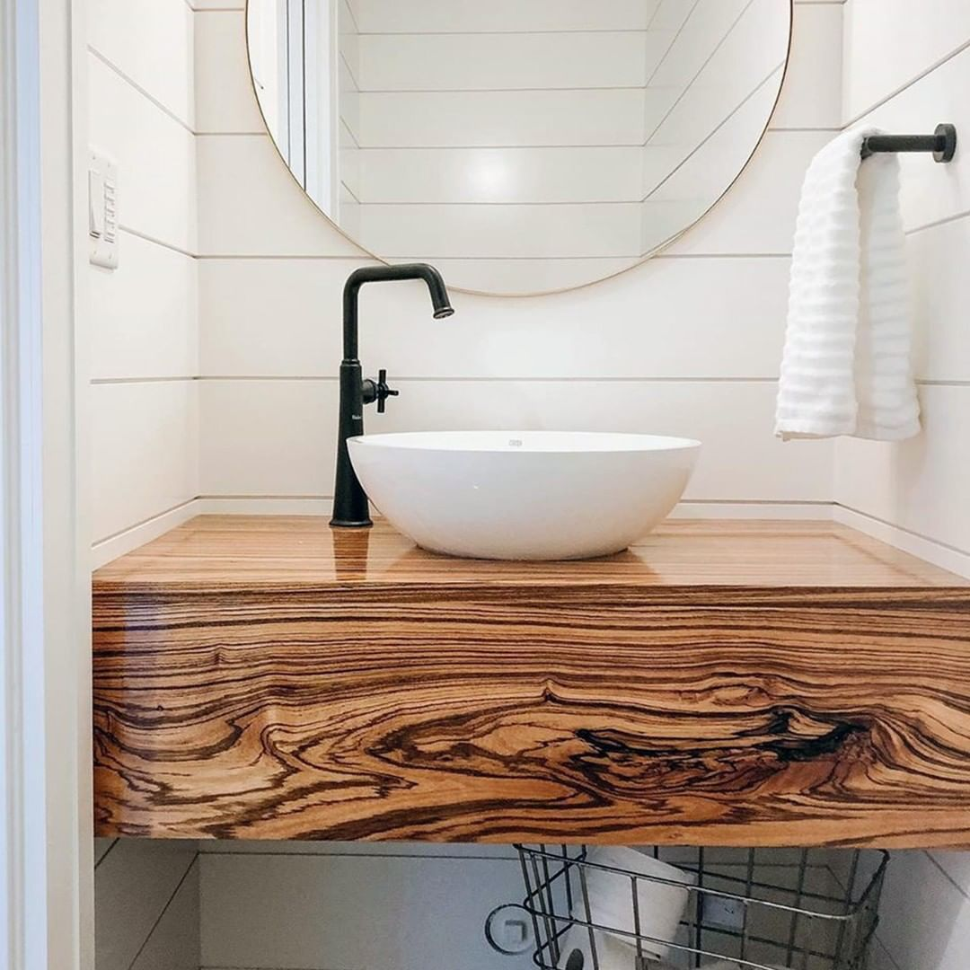 Powder Room House Of Rohl On Instagram Love This Charming Powder Room Featuring Our Riobel Bathroom Fixtures Bathroom Design Modern Bathroom Design Grey