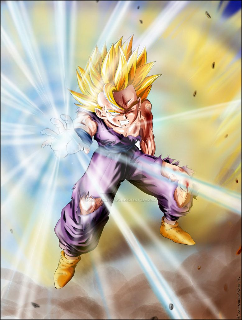 Gohan S Kameha 2 By Condemned2love On Deviantart Dragon Ball Art