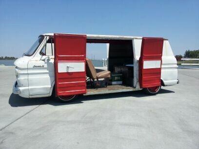 Bagged With Doors Open Chevrolet Corvair Auto Repair Van