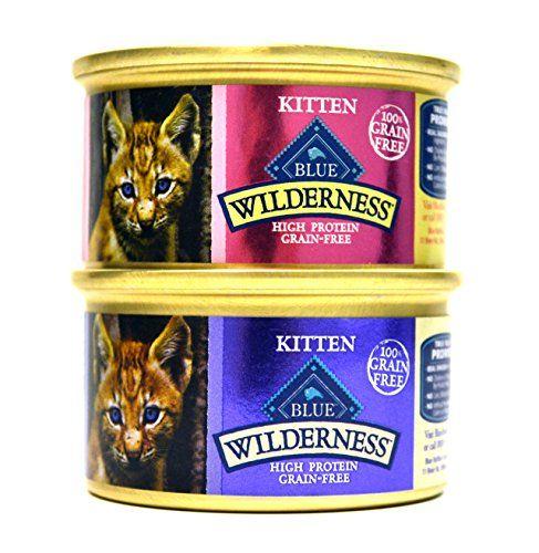 Blue Buffalo Wilderness Grainfree Variety Pack Wet Kitten Food 2 Flavors Salmon Chicken 12 3 Ounce Cans 6 Of Ea Kitten Food Cat Food Wet Cat Food